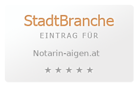 Start (NOTARIN Mag. Christine Buchinger