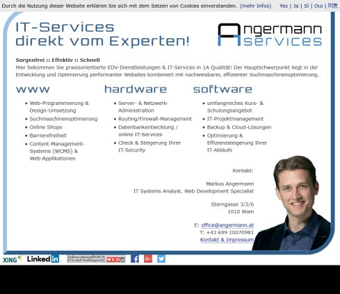 Angermann IT-Services Öffnungszeit