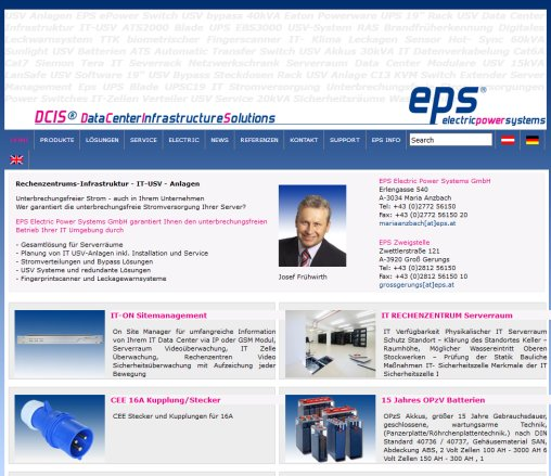 IT Datenverkabelung Infrastrukur EPS USV Batterien Steckdosenleisten ATS EPS Electric Power Systems GmbH Öffnungszeit