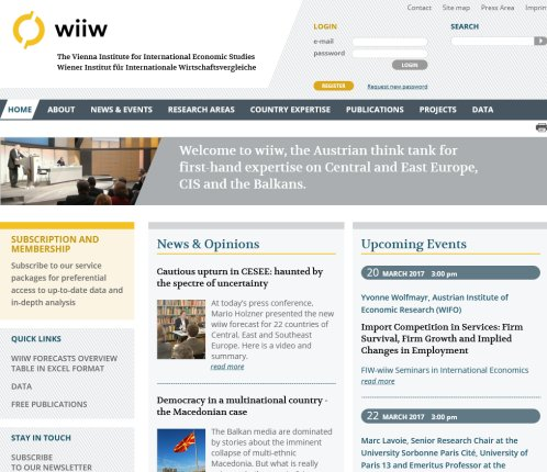 wiiw   The Vienna Institute for International Economic Studies (wiiw)  Öffnungszeit