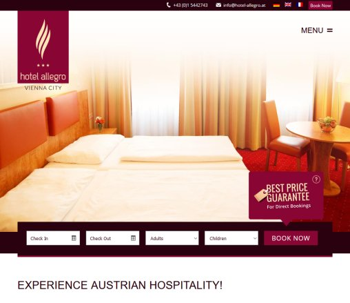 Hotel Allegro | Hotel Allegro Vienna City Ideally situated Hotel Spacious  lovingly appointed rooms  Öffnungszeit