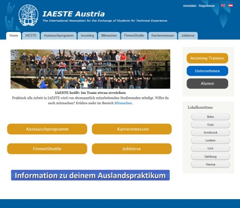 IAESTE Austria | International Association for the Exchange of Students for Technical Experience  Öffnungszeit