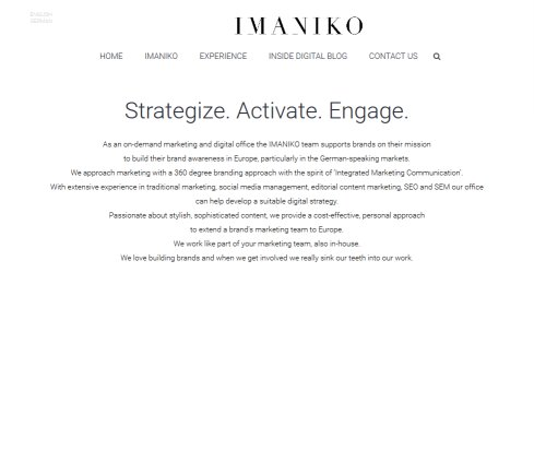 Imaniko Digital Branding, Stylish Social Content & Marketing Communications Öffnungszeit