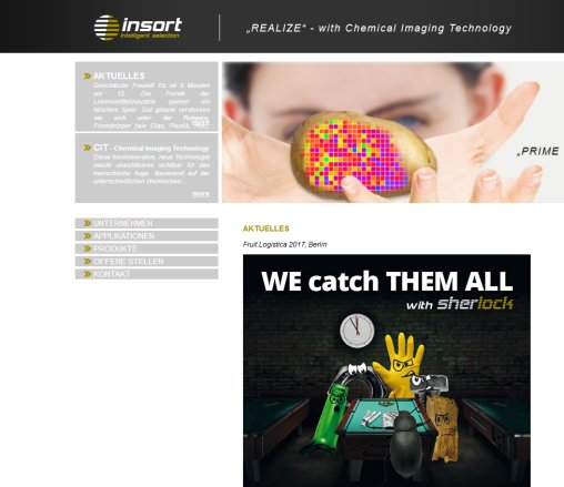 insort   intelligent selection | chemical imaging technology Insort   GmbH Öffnungszeit