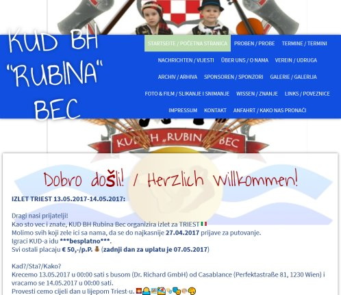 KUD BH RUBINA BEC › Rubina 2020