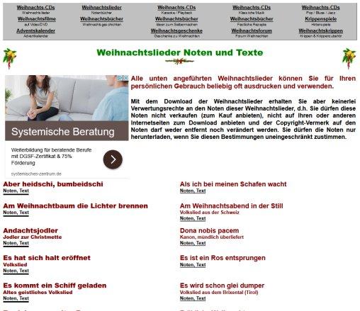 Texte Weihnachtslieder Zum Ausdrucken.ᐅ Weihnachtslieder Noten Und Texte Noten Zurndorf 2019