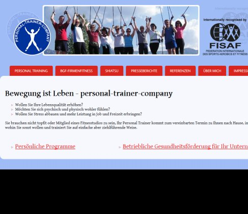 Personal Trainer Company :: Home Personal Trainer Company Wolfgang Hofer e.U. Öffnungszeit