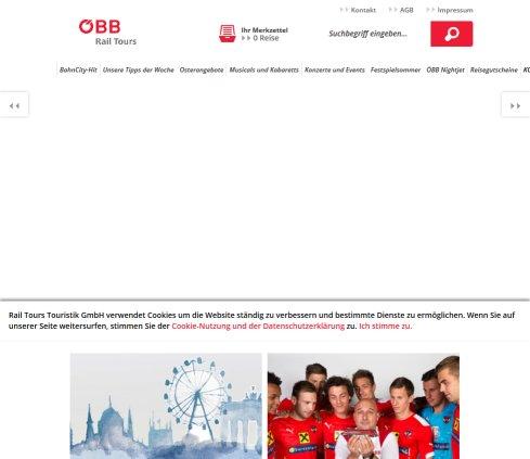 ᐅ öbb Rail Tours Städtereisen Kombitickets Bahn Vienna 2019