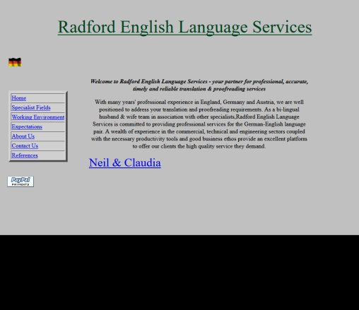 Welcome To Radford English Language Services  Öffnungszeit
