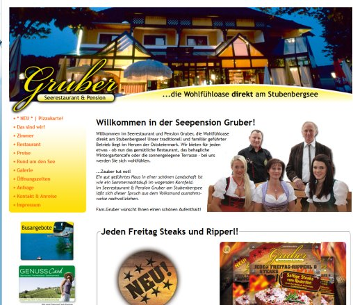 Restaurant und Pension am Stubenbergsee   Gruber! Seerestaurant  Seepension  Cafe  Bar direkt am Stubenbergsee!  Öffnungszeit