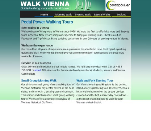 Pedal Power Walking Tours   Walking Tours in Vienna  Öffnungszeit