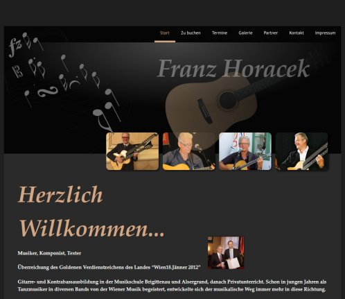 Franz Horacek. Wiener. Lieder.  Notice: Undefined variable: docTitel in /htdocs/index.php on line 13  Öffnungszeit