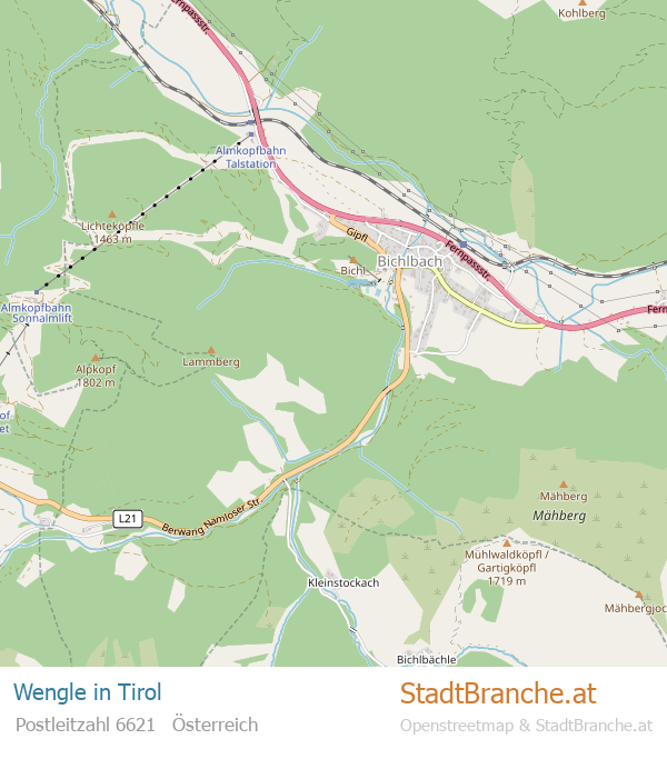 Wengle Stadtplan Tirol